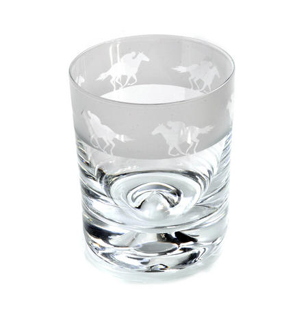 Race Horse - 30cl Animo Glass Whiskey Tumbler by The Milford Collection