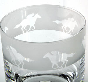 Race Horse - 30cl Animo Glass Whiskey Tumbler by The Milford Collection Thumbnail 2