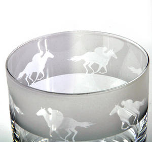 Race Horse - 30cl Animo Glass Whiskey Tumbler by The Milford Collection Thumbnail 3