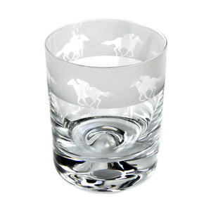 Race Horse - 30cl Animo Glass Whiskey Tumbler by The Milford Collection Thumbnail 4