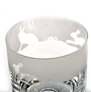 Hare - 30cl Animo Glass Whiskey Tumbler by The Milford Collection Thumbnail 4