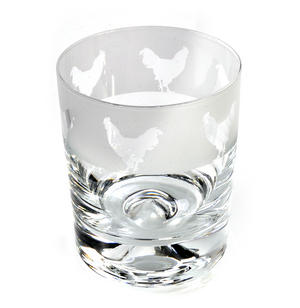 Cockerel - 30cl Animo Glass Whiskey Tumbler by The Milford Collection