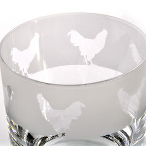 Cockerel - 30cl Animo Glass Whiskey Tumbler by The Milford Collection Thumbnail 2