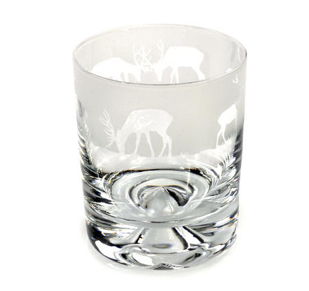Stag - 30cl Animo Glass Whiskey Tumbler by The Milford Collection