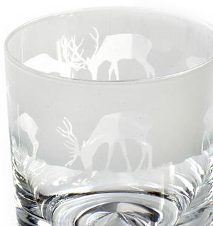 Stag - 30cl Animo Glass Whiskey Tumbler by The Milford Collection Thumbnail 3