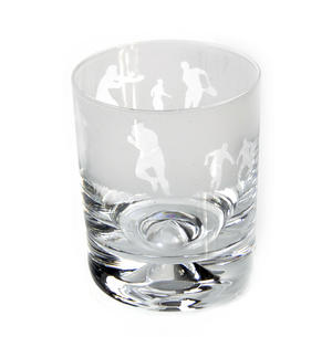 Rugby - 30cl Animo Glass Whiskey Tumbler by The Milford Collection Thumbnail 1