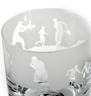 Rugby - 30cl Animo Glass Whiskey Tumbler by The Milford Collection Thumbnail 2