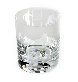 Rugby - 30cl Animo Glass Whiskey Tumbler by The Milford Collection Thumbnail 3