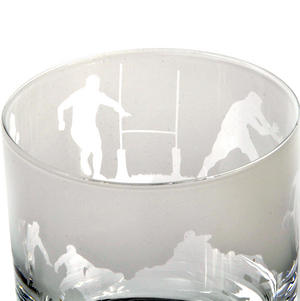 Rugby - 30cl Animo Glass Whiskey Tumbler by The Milford Collection Thumbnail 4