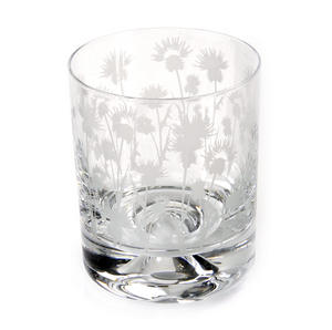 Thistle - 30cl Animo Glass Whiskey Tumbler by The Milford Collection
