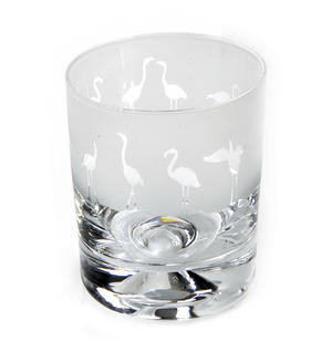 Flamingo - 30cl Animo Glass Whiskey Tumbler by The Milford Collection Thumbnail 1