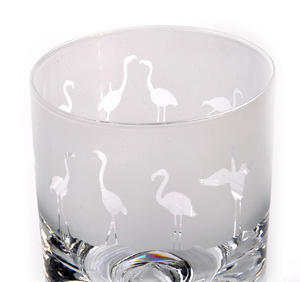 Flamingo - 30cl Animo Glass Whiskey Tumbler by The Milford Collection Thumbnail 2