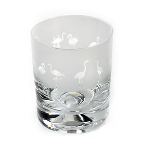 Flamingo - 30cl Animo Glass Whiskey Tumbler by The Milford Collection Thumbnail 3