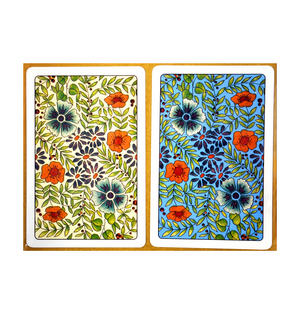 Summer Flowers  Playing Cards -  2 Deck Set for Bridge or Patience