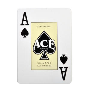 "Ace Giant Index / Face Poker Playing Cards - Traditional Large Size 3.5"" x 2.5"" - Random Blue or Red Thumbnail 2"