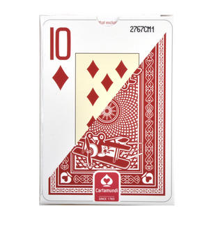 "Ace Giant Index / Face Poker Playing Cards - Traditional Large Size 3.5"" x 2.5"" - Random Blue or Red Thumbnail 6"