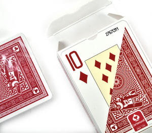 "Ace Giant Index / Face Poker Playing Cards - Traditional Large Size 3.5"" x 2.5"" - Random Blue or Red Thumbnail 7"