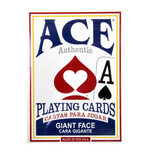 "Ace Giant Index / Face Poker Playing Cards - Traditional Large Size 3.5"" x 2.5"" - Random Blue or Red Thumbnail 8"