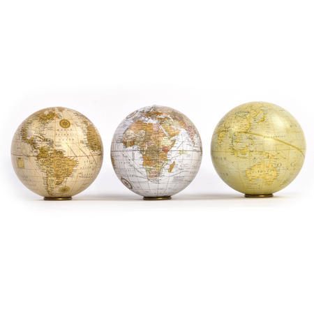 Three Globe Explorer Collection with Individual Stands
