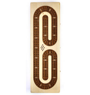 Luxury 3 Track White Topped Wooden Cribbage Board with Drawers, 2 Decks and Metal Pegs 1573W Thumbnail 4