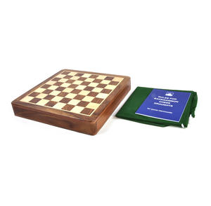 "Deluxe Wooden Magnetic Travel Chess - 10"" / 26cm Square with Travel Bag Thumbnail 6"