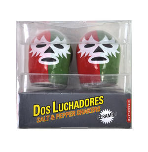 Dos Luchadores Mexican Wrestlers Salt & Pepper Shakers Thumbnail 4