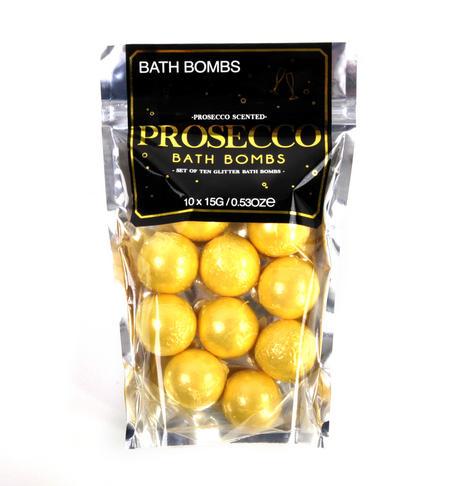 Prosecco Scented Bath Bombs - Set of 10 Glitter Bath Bombs