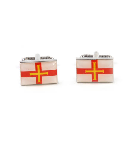 Cufflinks - Guernsey Flag
