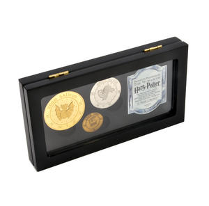 Harry Potter Gringotts Bank Replica Coin Collection - Unum Galleon, Sickle and Knut Coins - Noble Collection Thumbnail 2