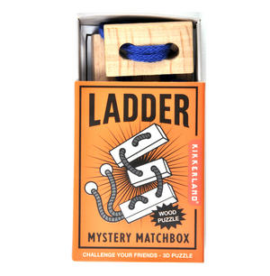 Ladder - 3D Wood Puzzle - Mystery Matchbox Pocket Puzzle