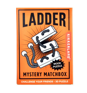 Ladder - 3D Wood Puzzle - Mystery Matchbox Pocket Puzzle Thumbnail 2