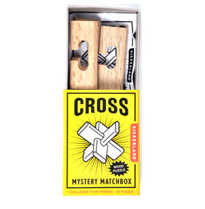 Cross - 3D Wood Puzzle - Mystery Matchbox Pocket Puzzle