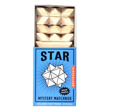 Star - 3D Wood Puzzle - Mystery Matchbox Pocket Puzzle