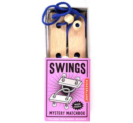 Swings - 3D Wood Puzzle - Mystery Matchbox Pocket Puzzle