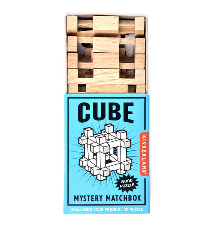 Cube - 3D Wood Puzzle - Mystery Matchbox Pocket Puzzle