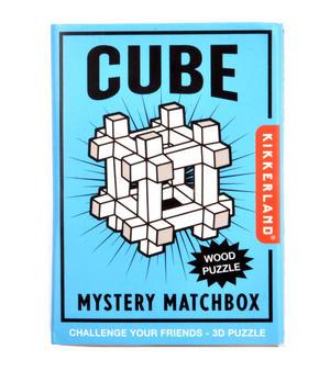 Cube - 3D Wood Puzzle - Mystery Matchbox Pocket Puzzle Thumbnail 2