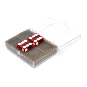 Pair of 19mm Red Non-Precision Casino Craps Dice - Plastic Injection Moulded for Randomness - 5041 Thumbnail 3