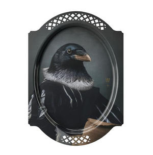 Le Corbeau - Galerie De Portraits - Surreal Wall Tray Art Masterwork by iBride