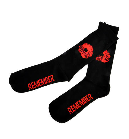 Remember Red Poppies Socks - Socks to Remember Soldiers, Heroes and Veterans