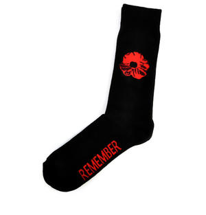 Remember Red Poppies Socks - Socks to Remember Soldiers, Heroes and Veterans Thumbnail 2