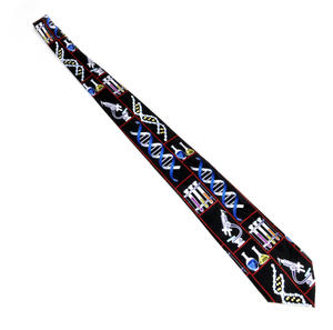 DNA Researcher Neck Tie - for Genetic Engineers, Genome Researchers, Biologists, Chemists and Lab Technicians Thumbnail 2