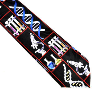 DNA Researcher Neck Tie - for Genetic Engineers, Genome Researchers, Biologists, Chemists and Lab Technicians Thumbnail 3