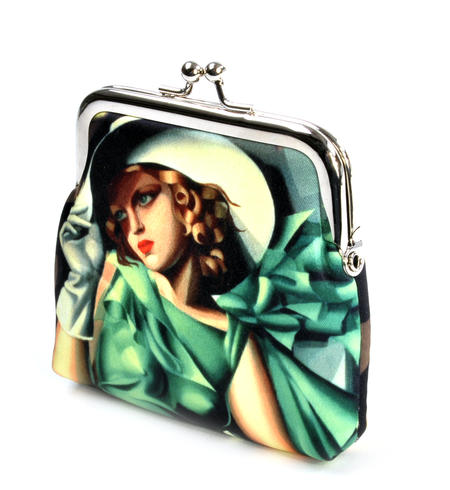Tamara de Lempika - Young Lady with Gloves Snap Coin Purse