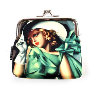 Tamara de Lempika - Young Lady with Gloves Snap Coin Purse Thumbnail 2