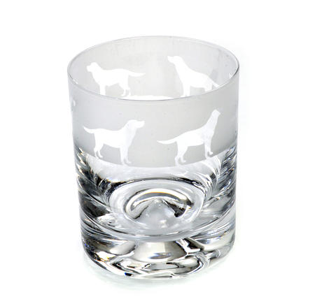 Labrador - 30cl Animo Glass Whiskey Tumbler by The Milford Collection