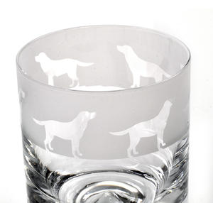 Labrador - 30cl Animo Glass Whiskey Tumbler by The Milford Collection Thumbnail 2