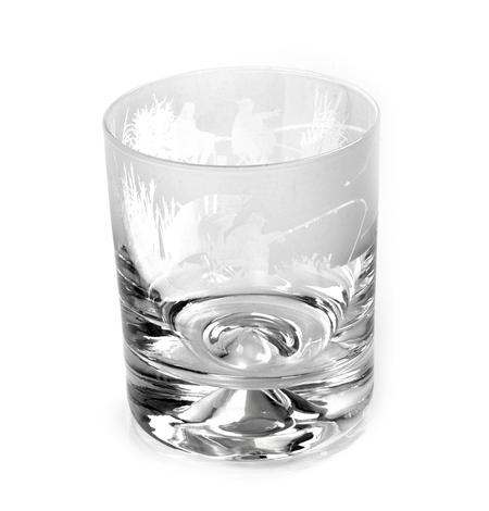 Fishing Scene - 30cl Animo Glass Whiskey Tumbler by The Milford Collection
