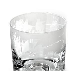 Fishing Scene - 30cl Animo Glass Whiskey Tumbler by The Milford Collection Thumbnail 3