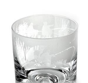 Fishing Scene - 30cl Animo Glass Whiskey Tumbler by The Milford Collection Thumbnail 4