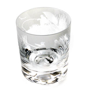 Fishing Scene - 30cl Animo Glass Whiskey Tumbler by The Milford Collection Thumbnail 5